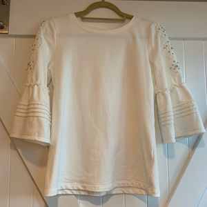 Lilly Pulitzer Coconut White Fatima Sweatshirt XS